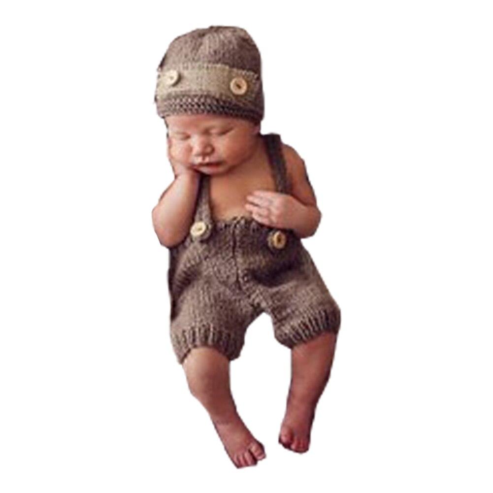 ღ ღ2 unids/set ropa del bebé del invierno del ganchillo hecho a ...