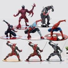 11-18 cm Figura Deadpool Deadpool Wade Wilson ARTFX com Arma de GUERRA CIVIL Veneno Carnificina homem aranha Ação PVC figura Modelo Brinquedos