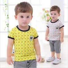 infant toddler baby boy clothing sets fashion print t-shirt and shorts pants  baby boy clothing for summer 2pcs/sets
