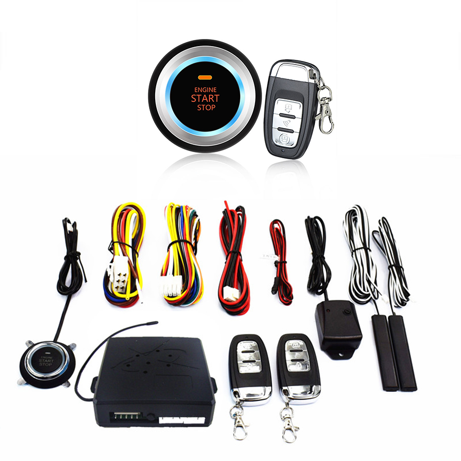Système d'alarme Auto SUV entrée sans clé démarrage du moteur bouton poussoir démarreur à distance Version améliorée Plus