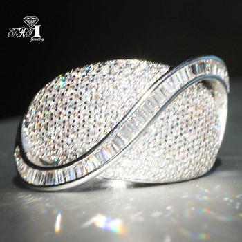 YaYI biżuteria księżniczka Cut 5 7 CT biały cyrkon kolor srebrny pierścionki zaręczynowe obrączki obrączki ślubne dziewczyny pierścionki Party prezenty tanie i dobre opinie Moda Zaręczyny Zespoły weselne Kobiety Cyrkonia TRENDY 20mm Prong ustawianie yayi jewelry Geometryczne HR782 Miedzi Brak