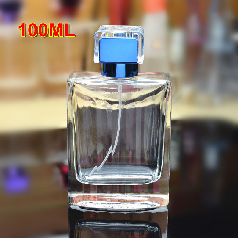 30pcs/<font><b>lot</b></font> High Quality <font><b>100ml</b></font> Glass Perfume <font><b>Spray</b></font> <font><b>Bottle</b></font> Empty Clear Refillable Cosmetic Packaging <font><b>Bottles</b></font> with Screw Neck image