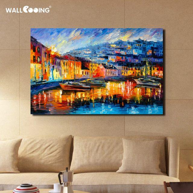 Online Shop 100% dipinto a mano pittura a olio di paesaggio di ...