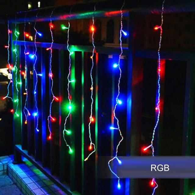 led gordijn verlichting ac110v220 v led ijspegel 4 m 96 leds volledige kleur en