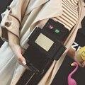 2016 Nuevas Mujeres Lindas de la Historieta Robot Forma Pequeño Bolso Mini Crossbody Del Hombro el Bolso Del Teléfono de Las Señoras Monederos Niñas Embrague de la Cadena de Acrílico