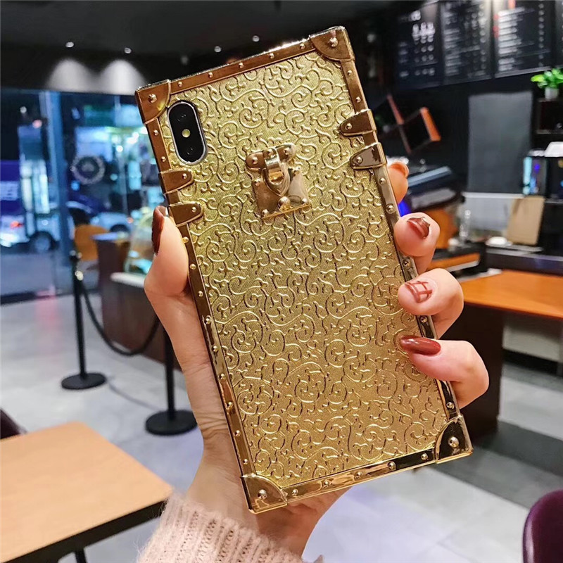 HTB1zcP5aUrrK1RkSne1q6ArVVXay - Luxury Square Gold glitter case for Samsung S10 Plus S9 S8 3D high quality soft cover for iphone 11 Pro X XR XS MAX 6 7 8 coque