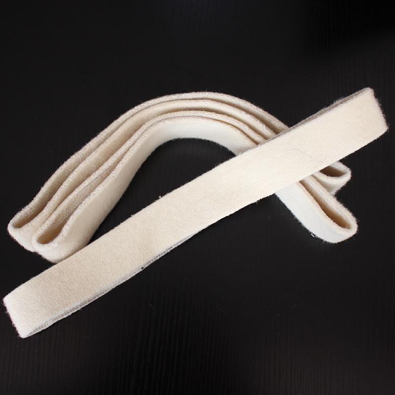 3PCS Wool Sand Belt For Mirror Polishing Tube Belt Sanders 760x40mm Polisher Belt