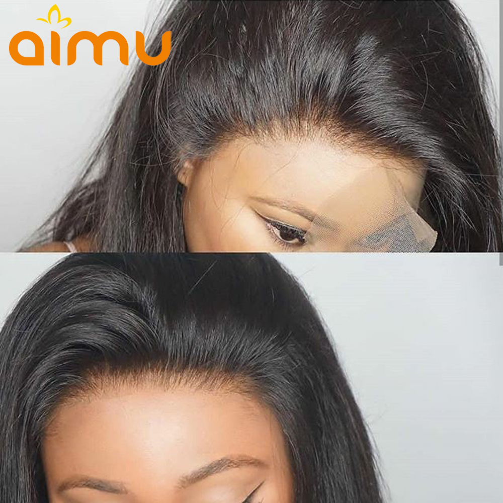 Preplucked Lace Wig Straight Human Hair Wigs Raw Indian Virgin Hair Braided Lace Wigs Full Lace
