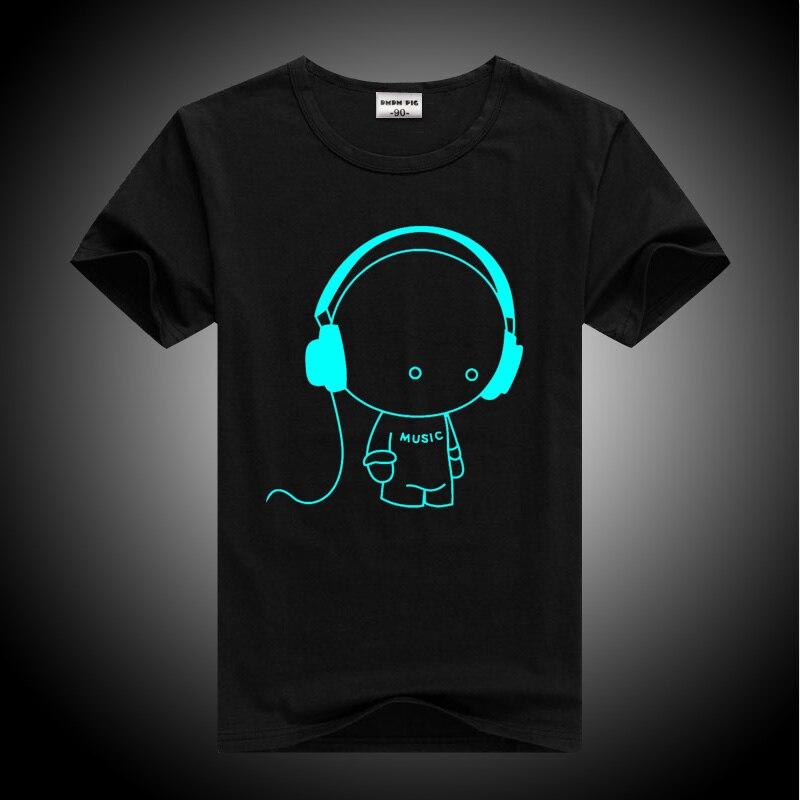 DMDM PIG Luminous Short Sleeves T-Shirts For Boys Girls Superman Batman T Shirt Kids Christmas Baby Girl Tops 2 3 4 Years TShirt