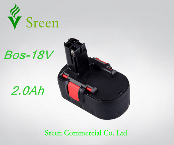 New NI-CD Spare 2.0Ah Rechargeable Power Tool Battery Replacement for Bosch 18V BAT025 BAT026 BAT160 BAT181 BAT189 2 607 335 536 new 24v ni mh 3 0ah replacement rechargeable power tool battery for bosch bat299 bat240 2 607 335 637 bat030 bat031 gkg24v