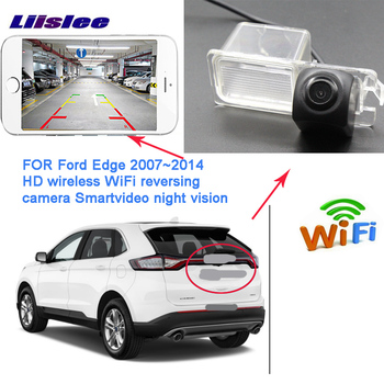 LiisLee  WIFI Rear View Camera for Ford Edge 2007~ 2014 for Ford Mondeo 2013~2015 Reverse wireless reverse camera night vision