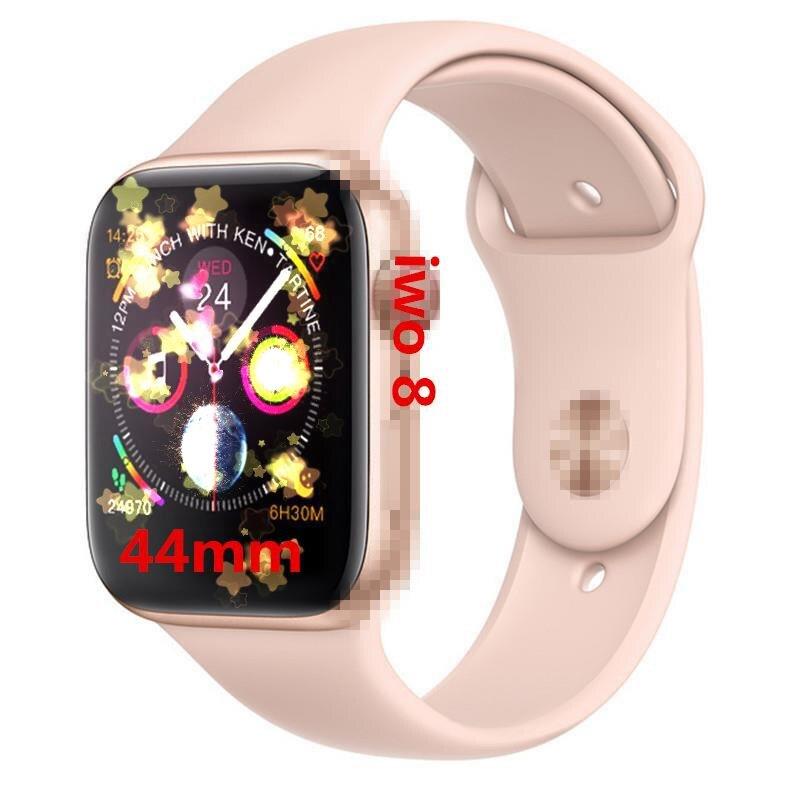 IWO 8 PK IWO 4 5 6 montre intelligente Bluetooth Smartwatch série 4 44mm boîtier 1:1 téléphone intelligent fréquence cardiaque pour ios android reloj horloge