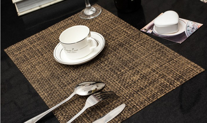 Free Shipping Woven Vinyl Placemats Bar Restaurant Table