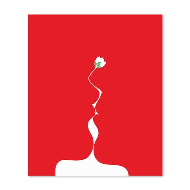 Diy Цифровая живопись маслом по номерам рисунок ручная роспись изображение Настенный декор pic один цветок и красный Diy живописи по номерам ка...