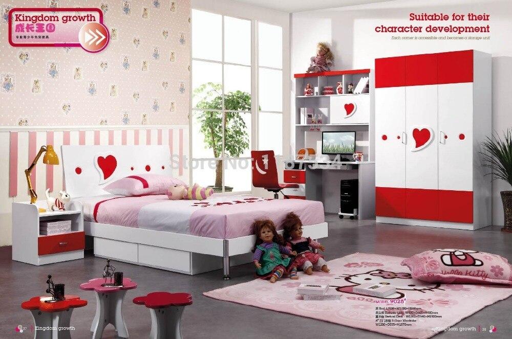 9028 Children Wardrobe Bed Nightstand Desk Chair Bedroom