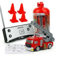 2019 NEW Childrens RC Fire Engine Remote Control Fire Truck With Tank/Ladder Flashing Light|RC Cars| |  -