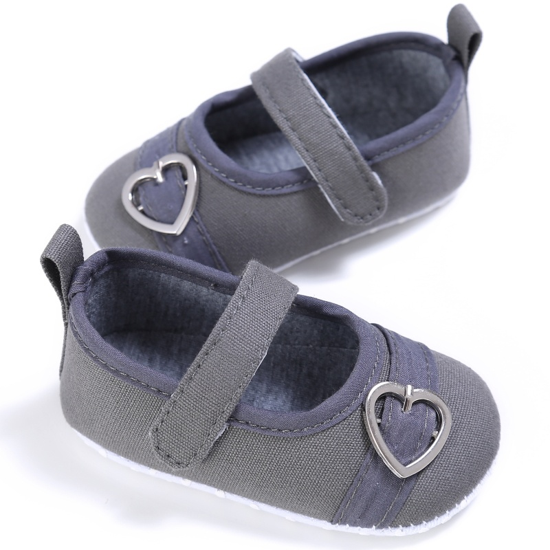 Baby Girls First Walkers Sweet Heart Pattern Anti-slip Shallow Newborn Shoes 0-18M