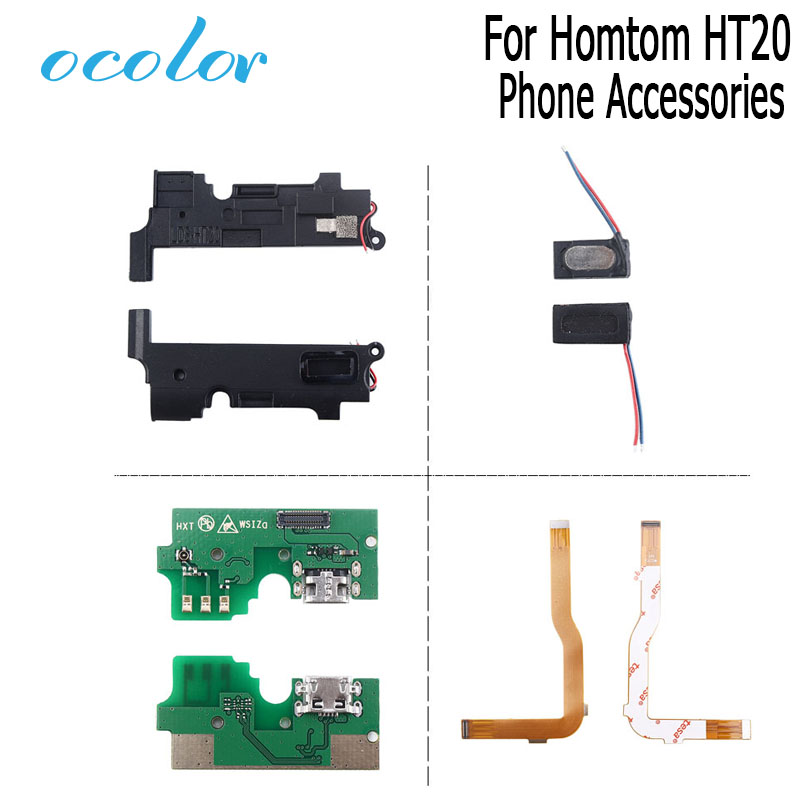 ocolor for homtom ht20 usb plug charge board with flex cable pcb motherboard loud speaker. Black Bedroom Furniture Sets. Home Design Ideas