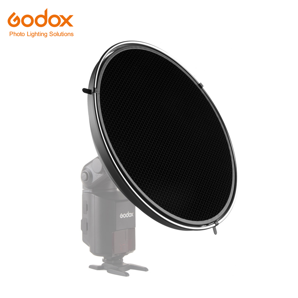Godox AD S3 Beauty Dish with AD S4 Grid Honeycomb Cover for Godox WITSTRO AD200 AD
