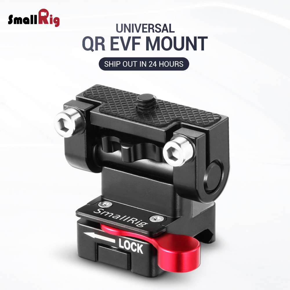 SmallRig Dual Camera EVF Mount with a Nato Clamp Quick Release Adjustable Monitor Holder For follow