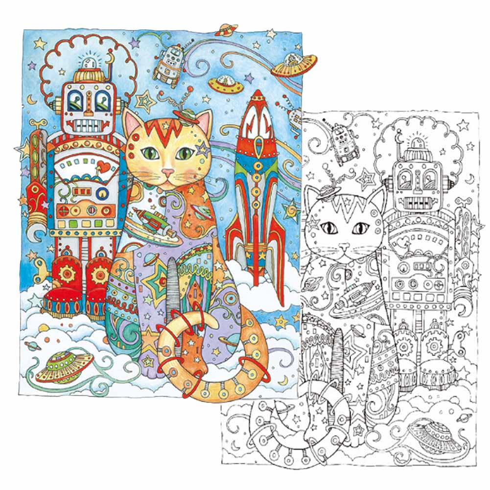 Dover Cool Cats Coloring Page 1 | Cat coloring book, Coloring books, Coloring  pages | 1001x1001