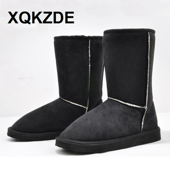XQKZDE New 2018 HOT ! 14 color Fahion 25cm Height Winter women snow boots for women free shipping NCAF03