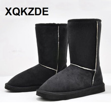 XQKZDE New 2018 HOT ! 14 color Fahion 25cm Height Winter women snow boots for women free shipping NCAF03(China)