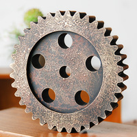 Vintage Industrial Wind Wood 20cm Gear Wall Gear Ornaments Home Wall Hangings Creative Home Ornament Decorative