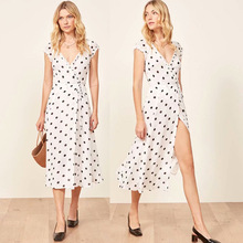 women dress  summer beach Dot Chiffon