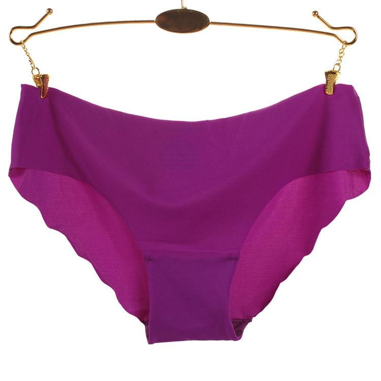 Free Shipping A chip ms ms seamless underwear non trace ice silk triangle sexy underwear SIZE S M L XL #7203