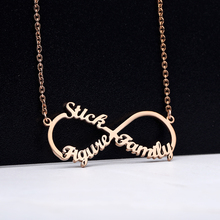 Unlimited Name Necklaces Custom Infinite Stainless Steel Letters Collares Necklace jewelry For Women