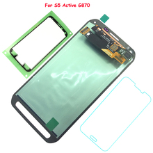 FIX2SAILING 100% Tested Working AMOLED LCD Display Touch Screen Assembly For Samsung Galaxy S5 Active G870