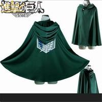 2017 Japnese Anime Shingeki No Kyojin Cloak Attack On Titan Cosplay Costumes Hoodie Cape Wings Of
