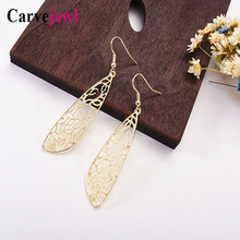 Carvejewl drop dangle earrings simple metal wings cute lovely young girl gift unique fashion Korean earrings for women jewelry цена и фото