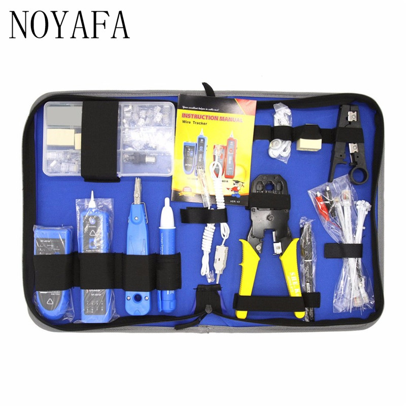 NF-1501 Network Repair Tool Kit With Wire Stripper Wire Tracker Krone Punch Down Tool Crimping Tool Maintenance Tool Set 11 in 1 professional network computer maintenance repair tool kit cross flat screwdriver crimping pliers tool set