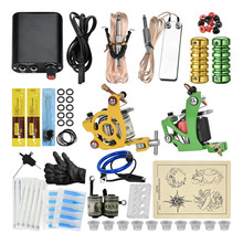 Kit De Tatouage Complet 2 Machines Tattoo Machine Kits Completed Set  Gun Professional Tatuagem
