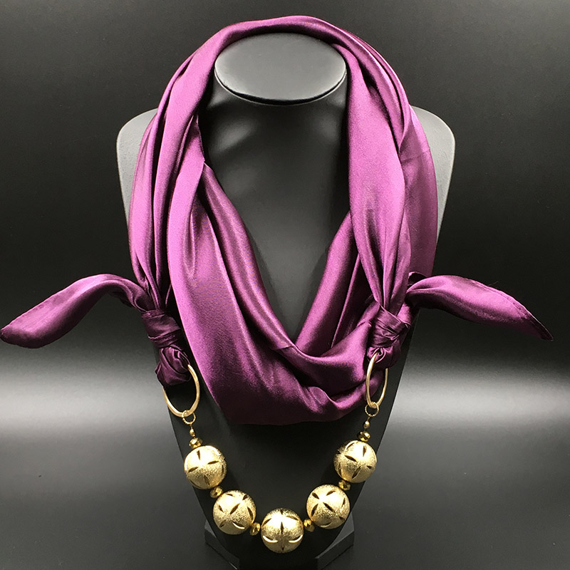 solid Silk Shawl copper ball Plated Pendant Womens