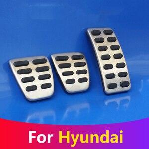 Car Accelerator Gas Brake Pedal Clutch Pedals Cover For Hyundai Creta Ix25 i30 Accent Verna Solaris Elantra Avante AD 2017 2018(China)