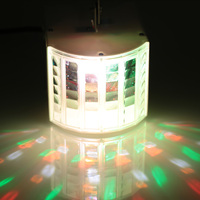 Mini Stage Light Lamp 6 Colors(R/G/B/Y/P/W ) Lights Sound Activated Auto Disco Light with Remote Control for DJ Party Wedding
