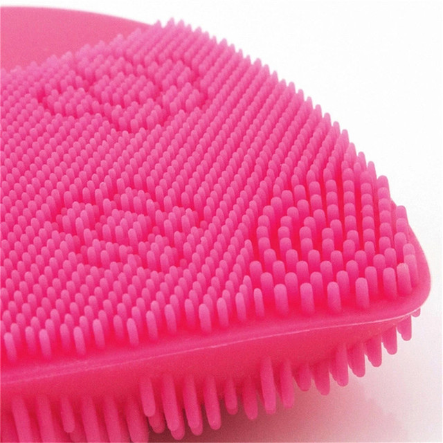 New Makeup Deep Pores Cleaning Electric Waterpoof Silicone Sonic Vibration Facial Wash Brush Cleaner Cleanser Beauty Massager 4