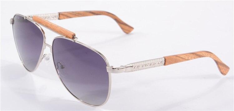 Солнцезащитные очки-авиаторы Для мужчин поляризованные очки, подходят для вождения, солнцезащитные очки с НАСТОЯЩИЙ ДЕРЕВЯННЫЙ руки унисекс UV400 защитные очки Oculos De Sol masculino 1565 - Цвет линз: gradient grey zebra
