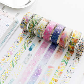 20pcs/1lot Washi Masking Tapes Flower color starry sky Decorative Adhesive Scrapbooking DIY Paper Japanese Stickers 5M - DISCOUNT ITEM  10% OFF All Category