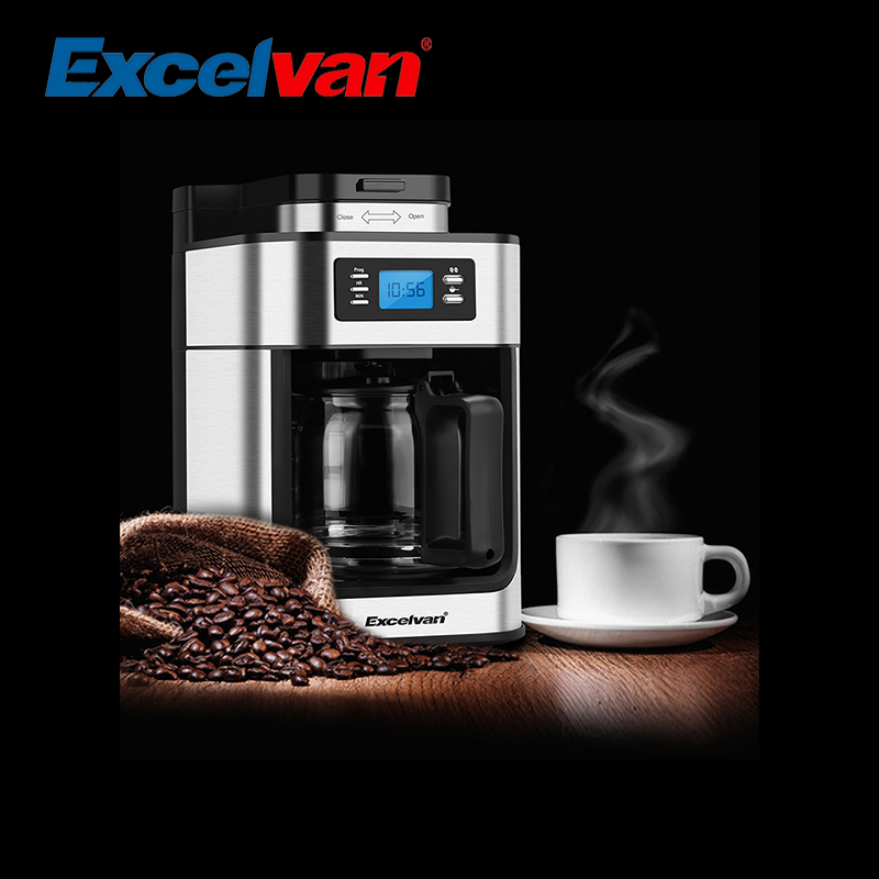 excelvan automatic programmable coffee maker 10 cup. Black Bedroom Furniture Sets. Home Design Ideas