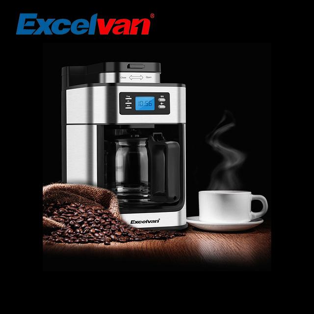 Excelvan 1.25L Automatic Programmable Coffee Maker 10-Cup Coffee Machine 1050W Espresso Cappuccino Coffee Maker Machine CM-6628T