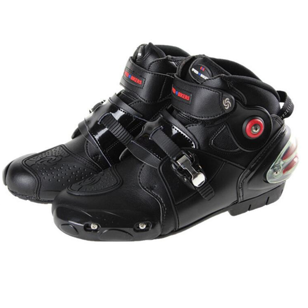 Motorcycle Boots Pro biker SPEED moto Racing Motocross Shoes Motorbike protection Black red white size EU