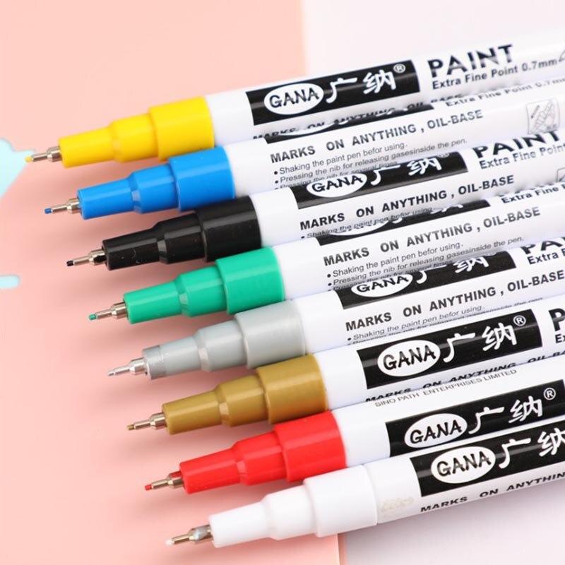 5 Pcs Paint Marker Fine Paint Oil Based Car Tyre Tire Metal Art Pen White Color