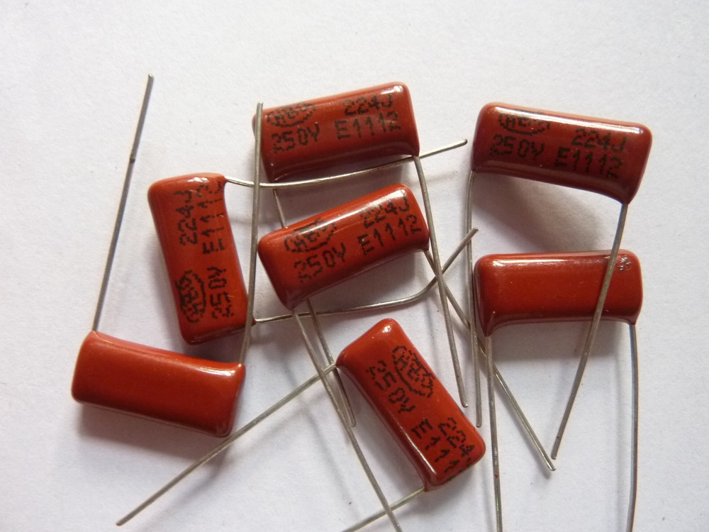 50PCS CL21 334J 400V 0.33UF 330NF P15 Metallized Film Capacitor