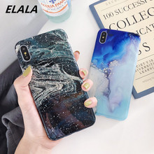 Glitter marble case on for iPhone xr dream ink graffiti IMD silicon cover sfor 6S 6 7 8 plus x xs max