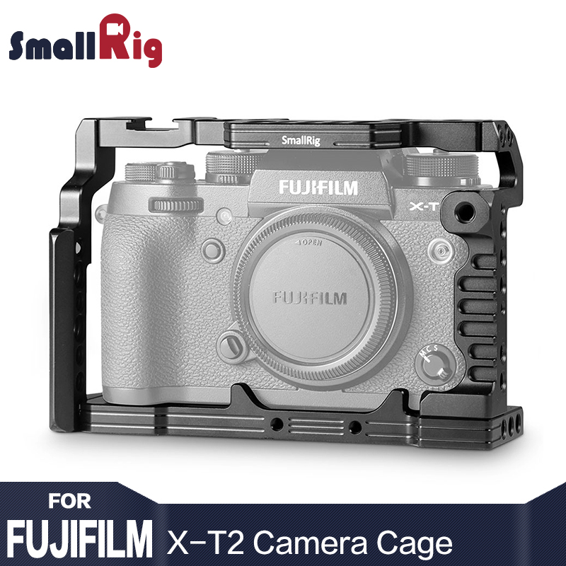 SmallRig Dual Camera Cage for Fujifilm X-T2 Camera Form-fitting Detachable With Cold Shoe Mount Nato Rail For DIY Options - 1881