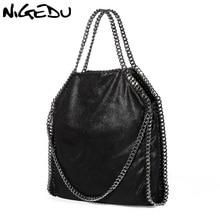 NIGEDU Women Bag PU Leather Fashion Chain Women's Messenger Shoulder Bags Bolsa Feminina Carteras Mujer handbags Women's Totes